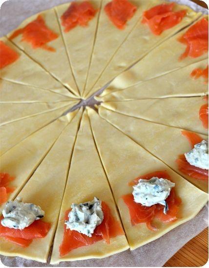 Croissant feuillété saumon fumé (source Pinterest)