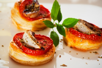 Mini tarte à la tomate